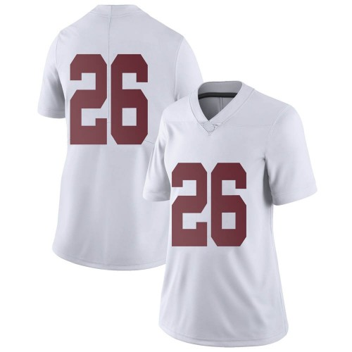 Women's Nike Trey Sanders Alabama Crimson Tide Limited White Football College Jersey