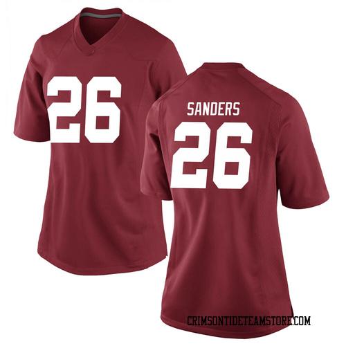 Women's Nike Trey Sanders Alabama Crimson Tide Replica Crimson Football College Jersey