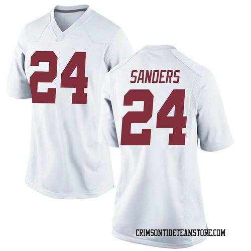 Women's Nike Trey Sanders Alabama Crimson Tide Replica White Football College Jersey