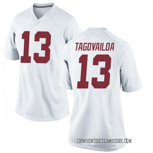 Women's Nike Tua Tagovailoa Alabama Crimson Tide Replica White Football College Jersey