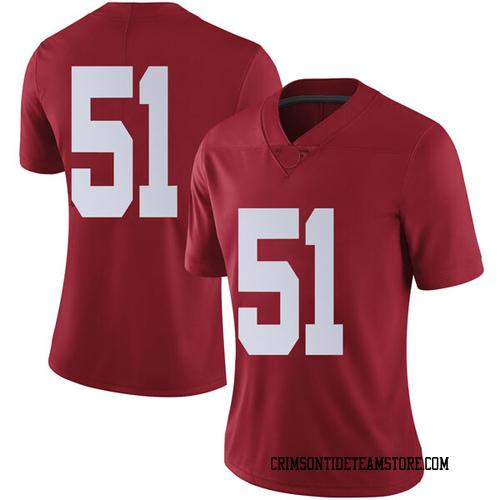 Women's Nike Tucker Riddick Alabama Crimson Tide Limited Crimson Football College Jersey