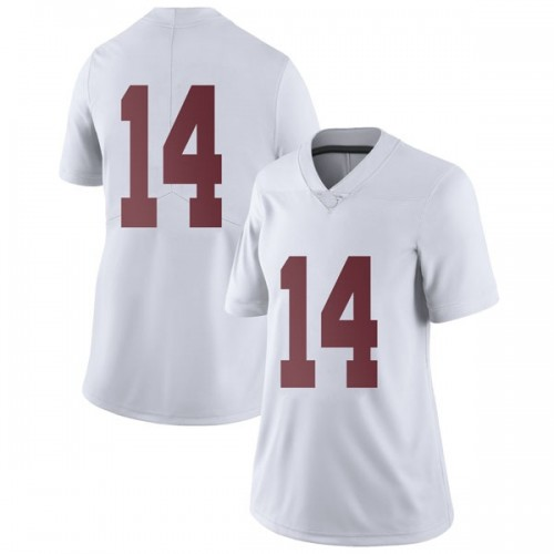 Women's Nike Tyrell Shavers Alabama Crimson Tide Limited White Football College Jersey