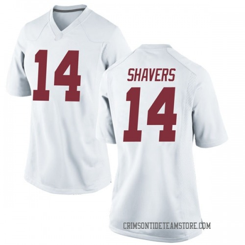 Women's Nike Tyrell Shavers Alabama Crimson Tide Replica White Football College Jersey