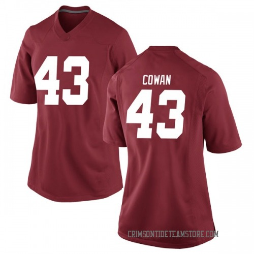 Women's Nike Vandarius Cowan Alabama Crimson Tide Game Crimson Football College Jersey