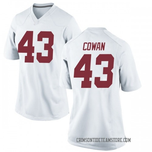 Women's Nike Vandarius Cowan Alabama Crimson Tide Game White Football College Jersey