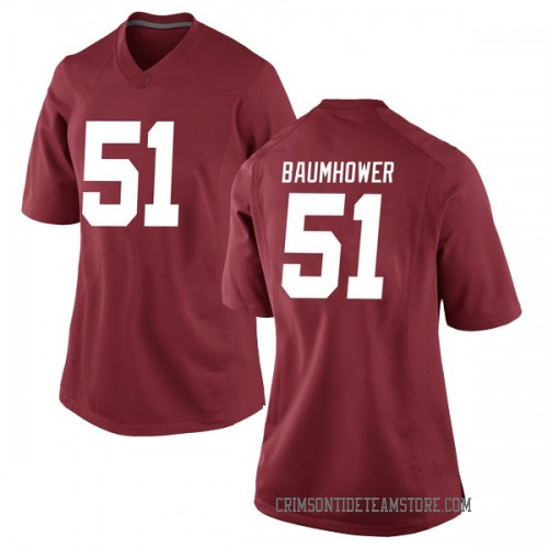 Women's Nike Wes Baumhower Alabama Crimson Tide Game Crimson Football College Jersey