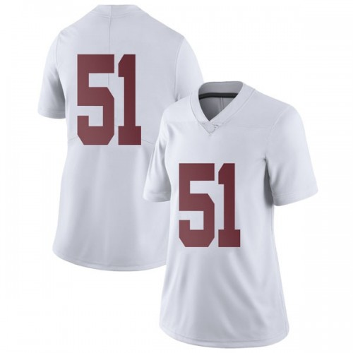 Women's Nike Wes Baumhower Alabama Crimson Tide Limited White Football College Jersey