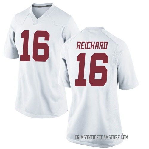 Women's Nike Will Reichard Alabama Crimson Tide Game White Football College Jersey