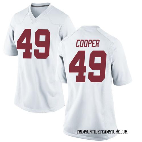 Women's Nike William Cooper Alabama Crimson Tide Game White Football College Jersey