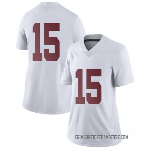 Women's Nike Xavier McKinney Alabama Crimson Tide Limited White Football College Jersey