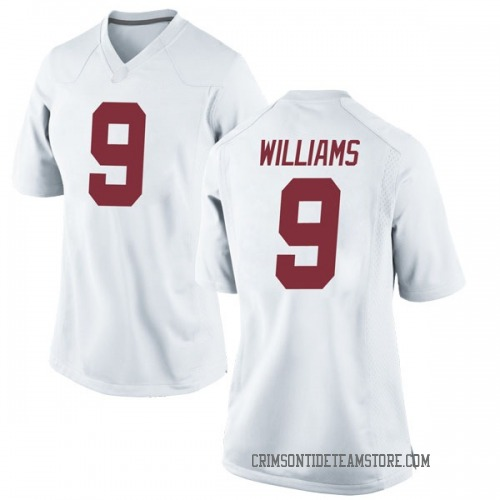Women's Nike Xavier Williams Alabama Crimson Tide Game White Football College Jersey