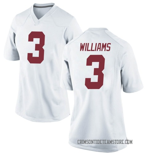 Women's Nike Xavier Williams Alabama Crimson Tide Replica White Football College Jersey