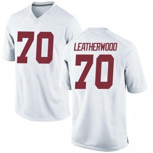 Youth Nike Alex Leatherwood Alabama Crimson Tide Replica White Football College Jersey