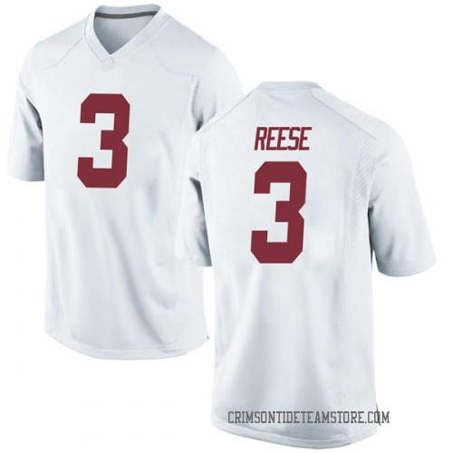 Youth Nike Alex Reese Alabama Crimson Tide Replica White Football College Jersey