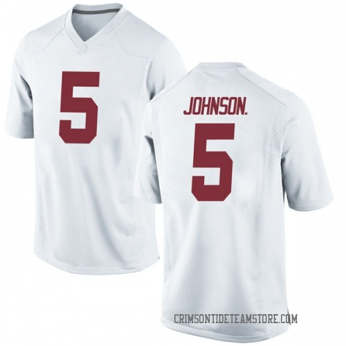 Youth Nike Avery Johnson Jr. Alabama Crimson Tide Game White Football College Jersey