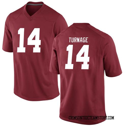 Youth Nike Brandon Turnage Alabama Crimson Tide Game Crimson Football College Jersey