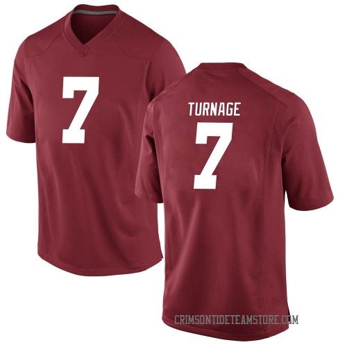 Youth Nike Brandon Turnage Alabama Crimson Tide Game Crimson Football College Jersey