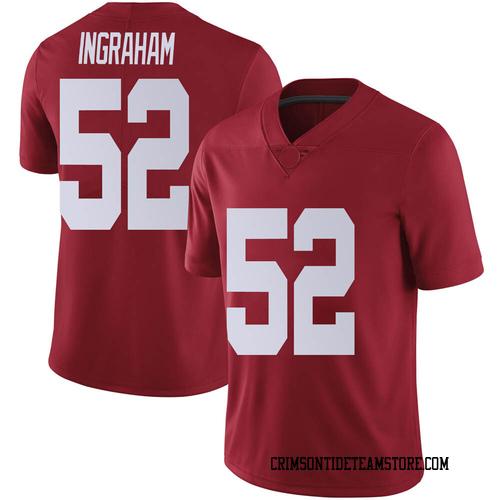 Youth Nike Braylen Ingraham Alabama Crimson Tide Limited Crimson Football College Jersey