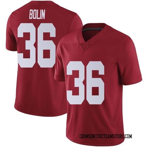 Youth Nike Bret Bolin Alabama Crimson Tide Limited Crimson Football College Jersey