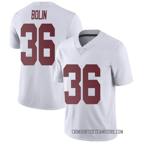 Youth Nike Bret Bolin Alabama Crimson Tide Limited White Football College Jersey
