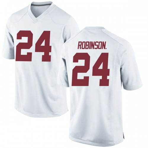 Youth Nike Brian Robinson Jr. Alabama Crimson Tide Game White Football College Jersey