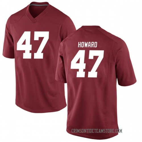 Youth Nike Chris Howard Alabama Crimson Tide Game Crimson Football College Jersey