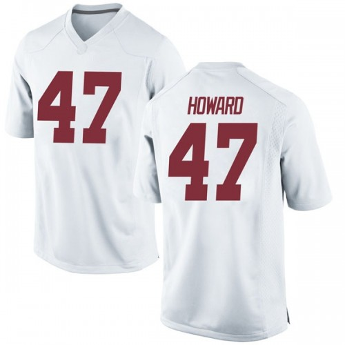 Youth Nike Chris Howard Alabama Crimson Tide Game White Football College Jersey