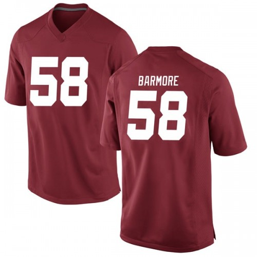 Youth Nike Christian Barmore Alabama Crimson Tide Game Crimson Football College Jersey