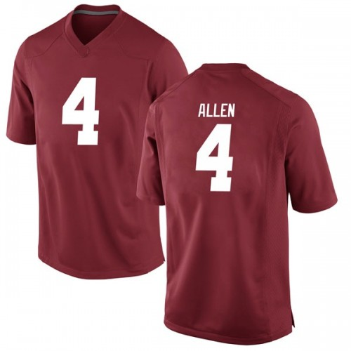 Youth Nike Christopher Allen Alabama Crimson Tide Replica Crimson Football College Jersey