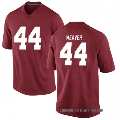 Youth Nike Cole Weaver Alabama Crimson Tide Game Crimson Football College Jersey