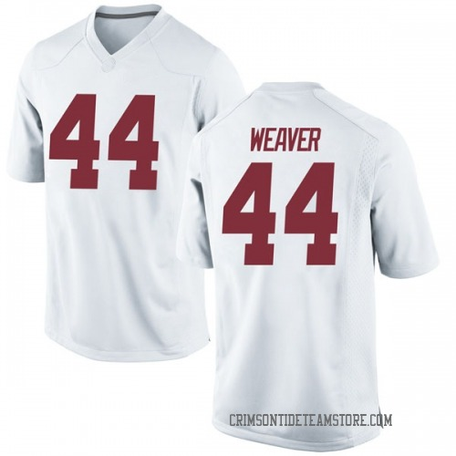Youth Nike Cole Weaver Alabama Crimson Tide Game White Football College Jersey