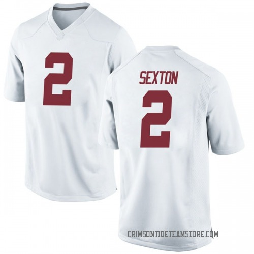 best service 6b6fd 66ace Youth Nike Collin Sexton Alabama Crimson Tide Game White Football College  Jersey