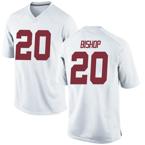Youth Nike Cooper Bishop Alabama Crimson Tide Game White Football College Jersey