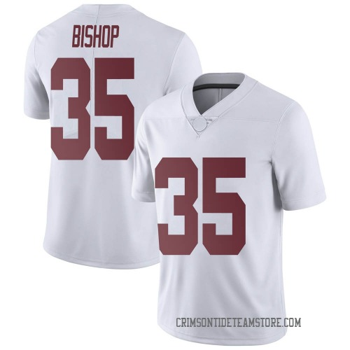 Youth Nike Cooper Bishop Alabama Crimson Tide Limited White Football College Jersey