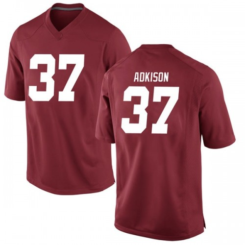 Youth Nike Dalton Adkison Alabama Crimson Tide Game Crimson Football College Jersey