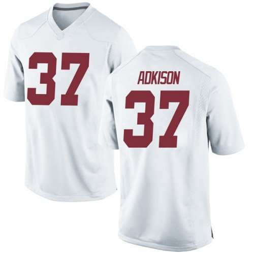 Youth Nike Dalton Adkison Alabama Crimson Tide Game White Football College Jersey