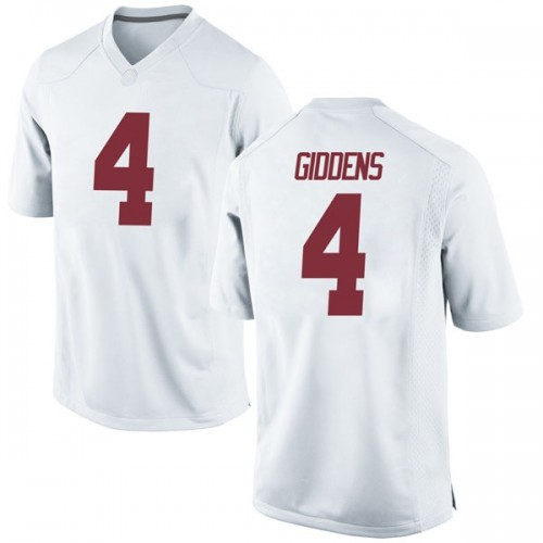 Youth Nike Daniel Giddens Alabama Crimson Tide Replica White Football College Jersey