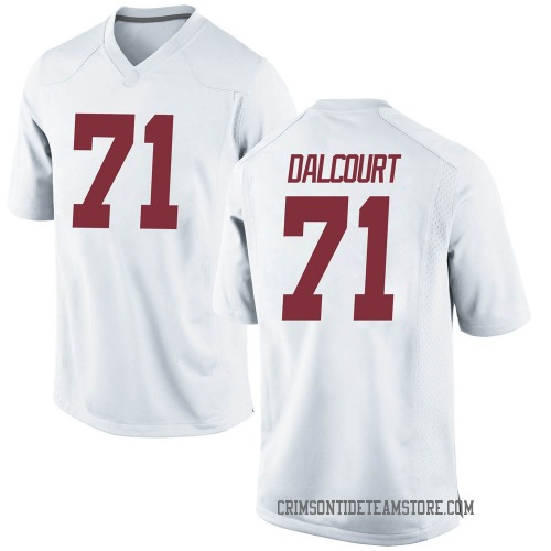 Youth Nike Darrian Dalcourt Alabama Crimson Tide Game White Football College Jersey