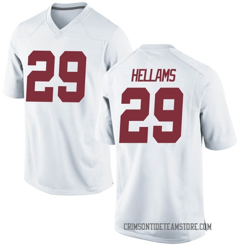 Youth Nike DeMarcco Hellams Alabama Crimson Tide Game White Football College Jersey