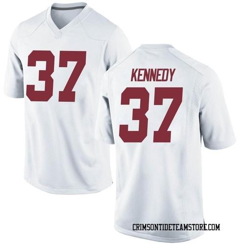 Youth Nike Demouy Kennedy Alabama Crimson Tide Game White Football College Jersey