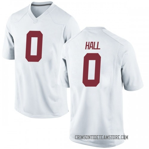 Youth Nike Donta Hall Alabama Crimson Tide Game White Football College Jersey