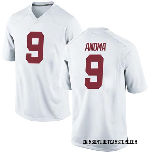 Youth Nike Eyabi Anoma Alabama Crimson Tide Game White Football College Jersey