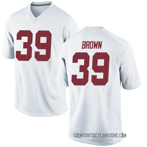 Youth Nike Jahi Brown Alabama Crimson Tide Game White Football College Jersey