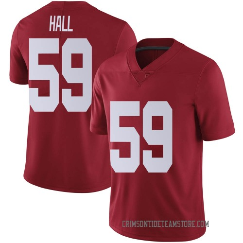 Youth Nike Jake Hall Alabama Crimson Tide Limited Crimson Football College Jersey