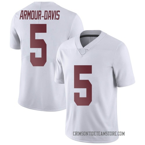 Youth Nike Jalyn Armour-Davis Alabama Crimson Tide Limited White Football College Jersey