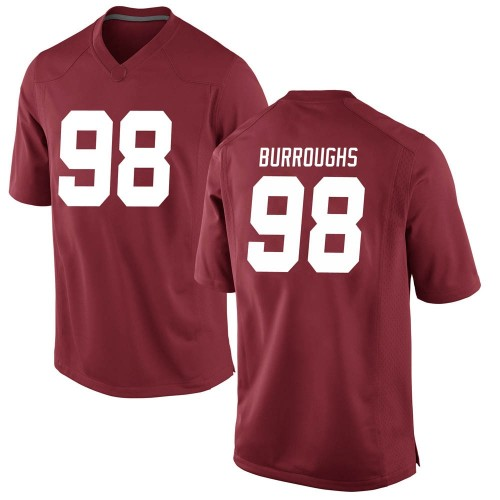 Youth Nike Jamil Burroughs Alabama Crimson Tide Game Crimson Football College Jersey