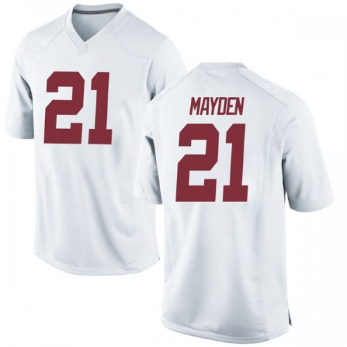 Youth Nike Jared Mayden Alabama Crimson Tide Game White Football College Jersey