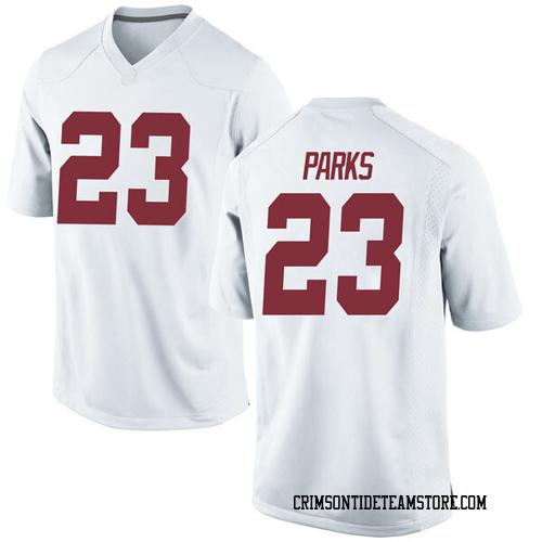 Youth Nike Jarez Parks Alabama Crimson Tide Game White Football College Jersey