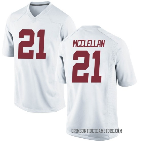 Youth Nike Jase McClellan Alabama Crimson Tide Replica White Football College Jersey