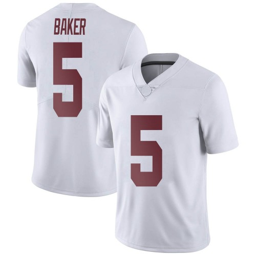 Youth Nike Javon Baker Alabama Crimson Tide Limited White Football College Jersey